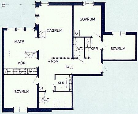 Plan över 4-rumslägenhet